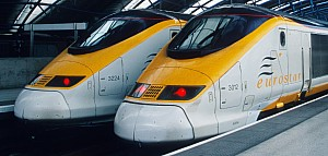 Eurostar Trains at London Waterloo