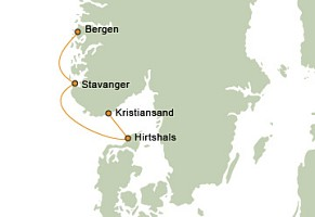 Fjord Route Map